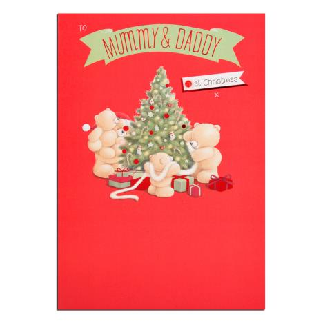 Mummy & Daddy Forever Friends Christmas Card