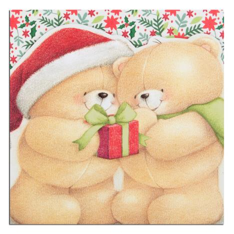 Christmas Couple Forever Friends Christmas Card