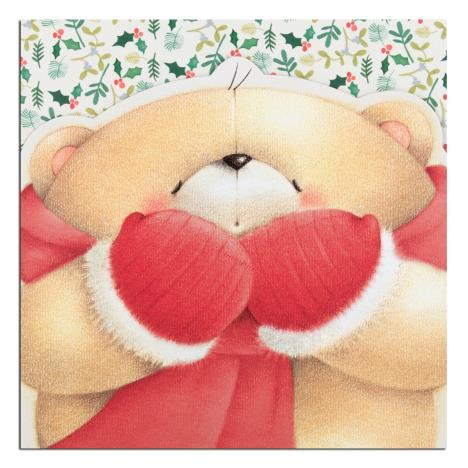 Bear with Mittens Forever Friends Christmas Card
