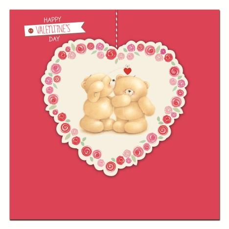 Happy Valentines Day Square Forever Friends Card