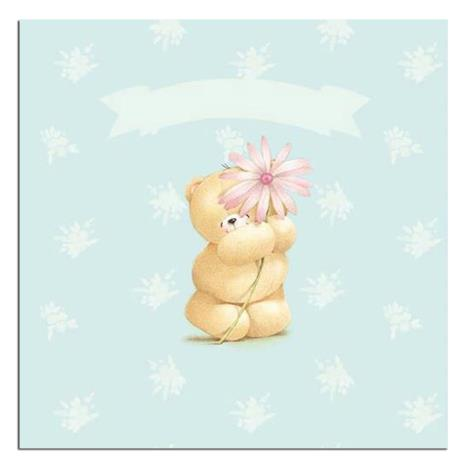 Thinking Of You Bear With Flower Forever Friends Card