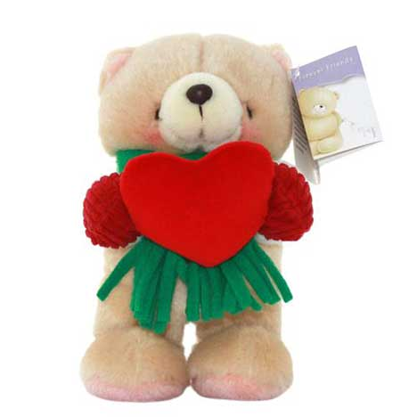 "7"" Standing Holiday Heart Forever Friends Bear"