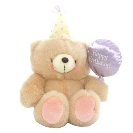 "10"" Birthday Balloon and Hat Forever Friends Bear"