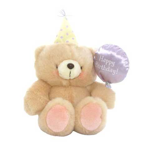 "6"" Birthday Balloon and Hat Forever Friends Bear"