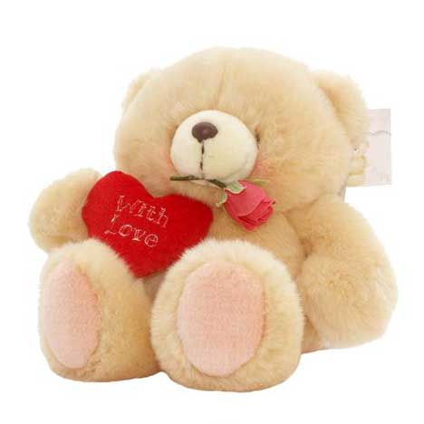 "6"" Love Heart and Rose Forever Friends Bear"