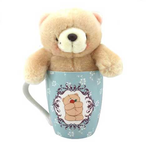 With Love Forever Friends Mug and Bear Set