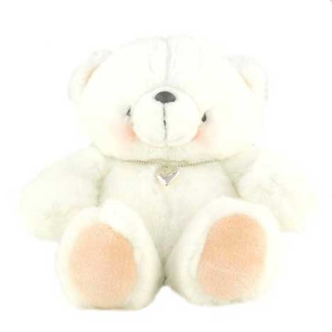 "10"" White Forever Friends Bear with Wearable Locket"