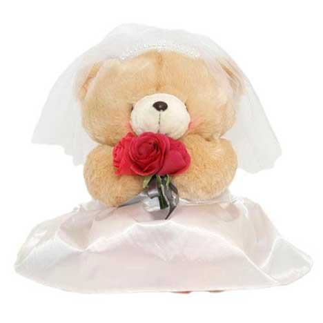 "16"" Traditional Bride Forever Friends Bear"