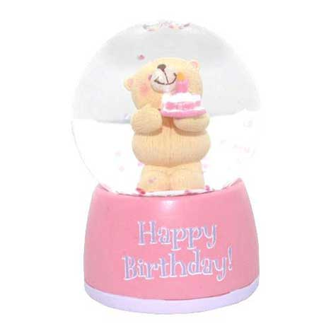 Happy Birthday Forever Friends Mini Snowglobe