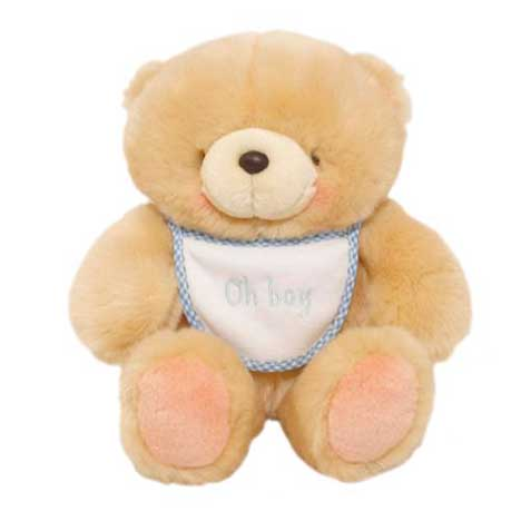 "8"" Oh Boy Blue Bib Forever Friends Bear"