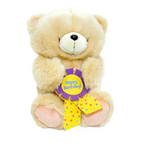 "10"" Forever Friends Bear with Removable Birthday Rosette"