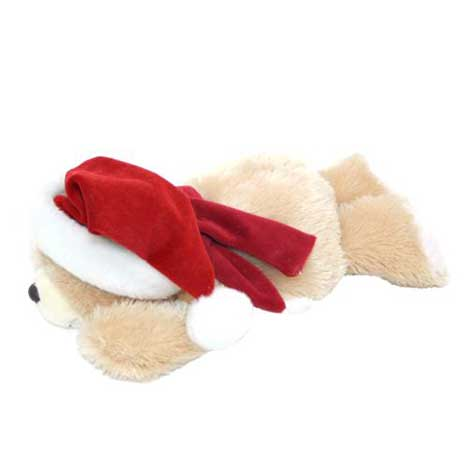 "10"" Santa Lying Down Forever Friends Bear"