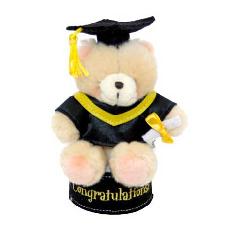 "6"" Forever Friends Graduation Plush Figurine"