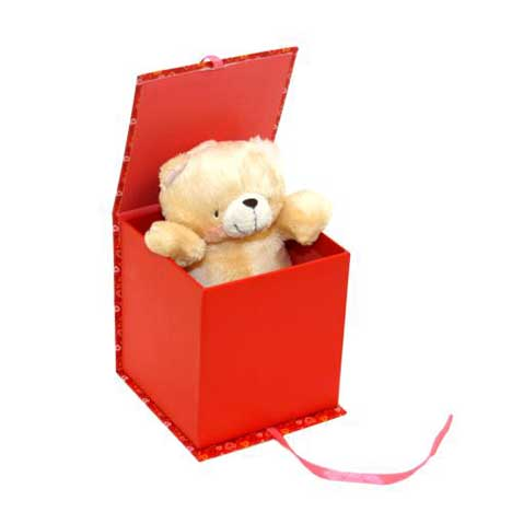 "6"" Love Forever Friends Bear in a Red Box"