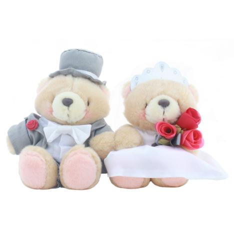 "2 x 6"" Wedding Couple Forever Friends Bears"