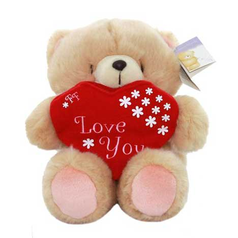 "10"" Forever Friends Bear with Love You Gift Holder"