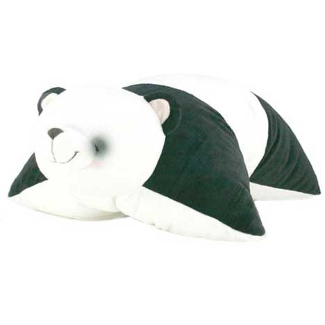 Forever Friends Panda Bear Blanket and Pillow Combo