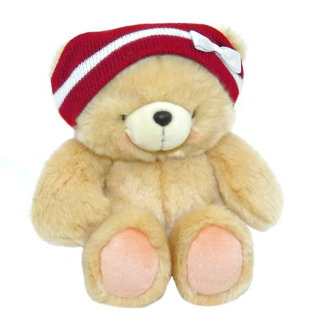 "10"" Forever Friends Bear In Knit Hat With Bow"