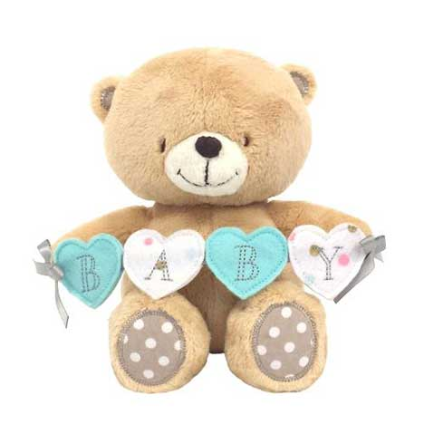 "8"" Baby sign Forever Friends Bear"
