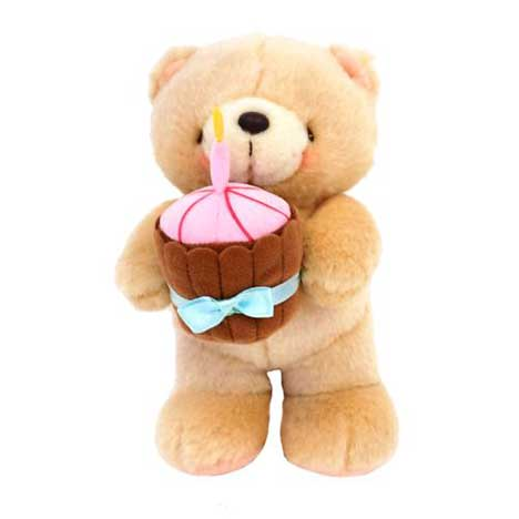 "7"" Standing Cupcake Birthday Forever Friends Bear"