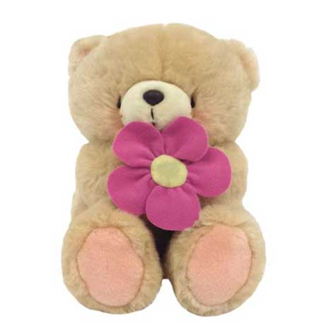 "10"" With Pink Flower Forever Friends Bear"