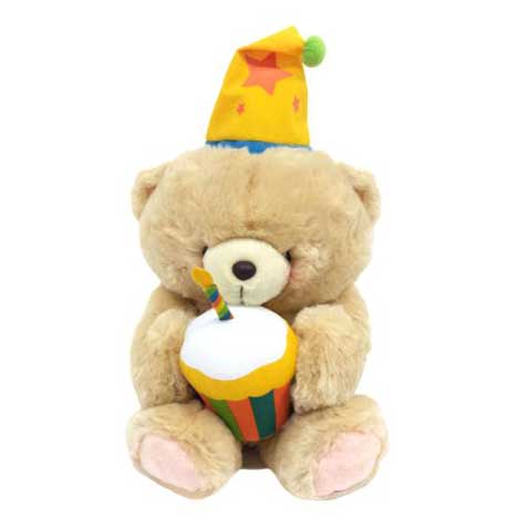 "16"" Birthday Cake & Hat Forever Friends Bear"