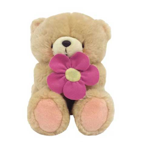 "22"" With Pink Flower Forever Friends Bear"