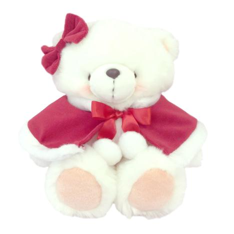 "10"" White Mrs. Claus Forever Friends Bear"