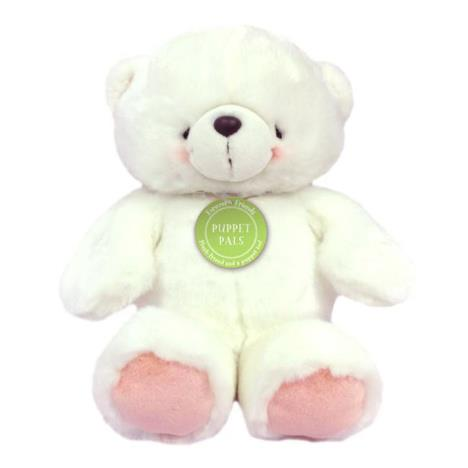 "12"" White Forever Friends Bear Puppet Pal"