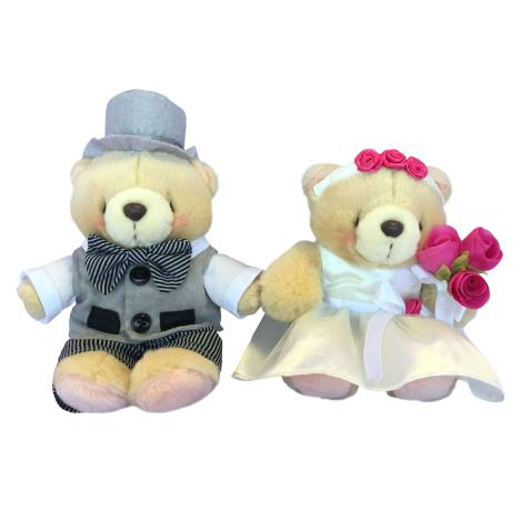 "2 x 6"" Wedding Couple Forever Friends Bear"