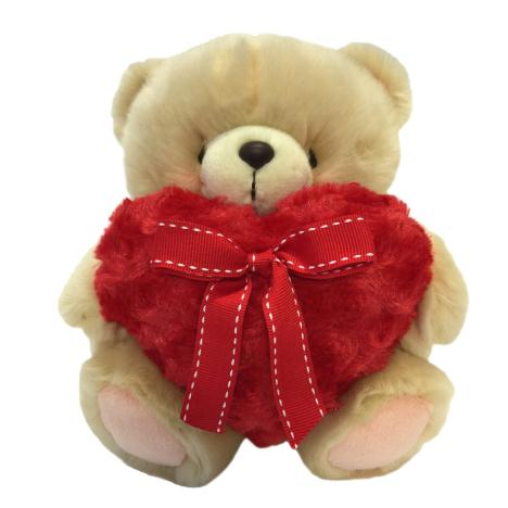"10"" Red Fluffy Heart Forever Friends Bear"