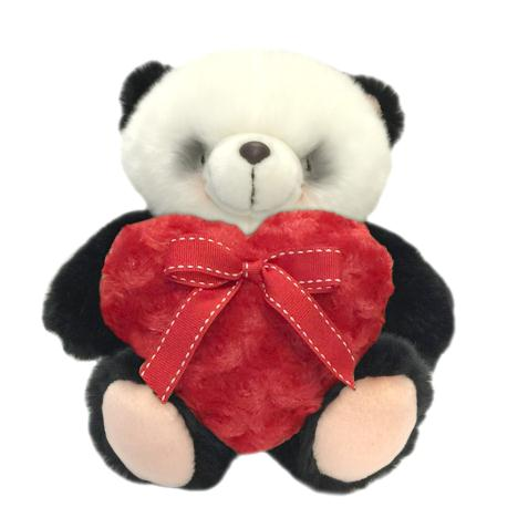 "10"" Red Fluffy Heart Forever Friends Panda Bear"