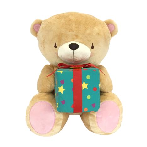 "22"" Soft Bear With Present Forever Friends Bear"