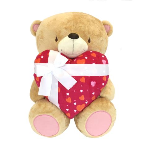 "22"" Bear With Red Heart and Bow Forever Friends Bear"