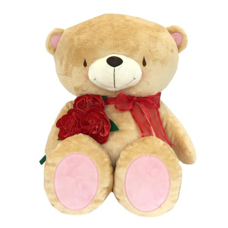 "22"" Bear With Rose Bouquet and Bow Forever Friends Bear"