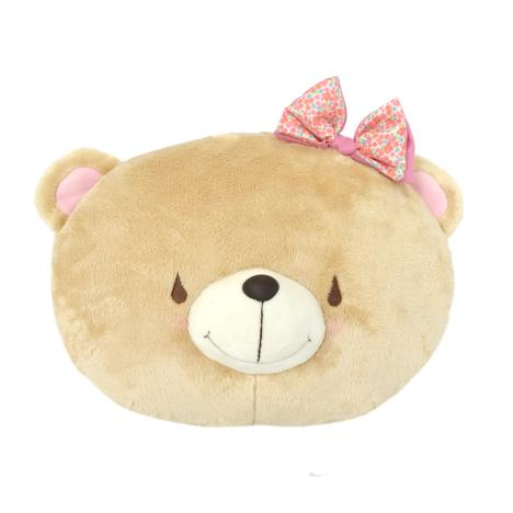 Forever Friends Bear with Bow Cushion