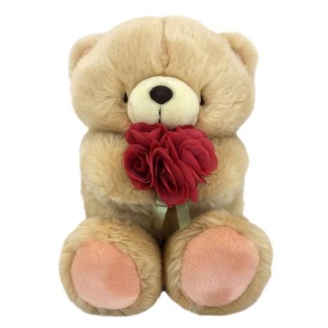 "10"" Holding Rose Bouquet Forever Friends Bear"