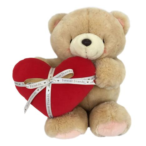 "16"" Red Padded Heart & Ribbon Forever Friends Bear"