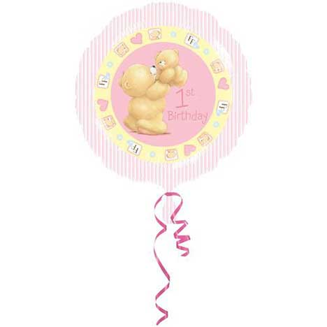 1st Birthday Forever Friends Foil Balloon (Unfilled)