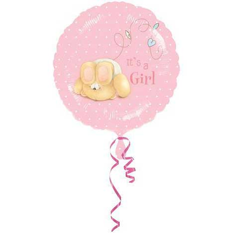 Its a Girl Forever Friends Foil Balloon (Unfilled)