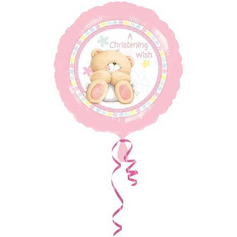 Christening Girl Forever Friends Foil Balloon (Unfilled)