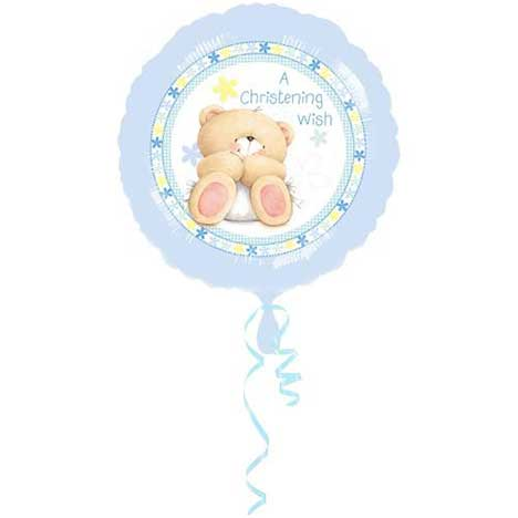 Christening Boy Forever Friends Foil Balloon (Unfilled) (Unfilled)