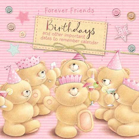 Forever Friends Everlasting Birthday Calendar