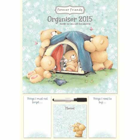 A3 Forever Friends Month-to-View Organiser 2015