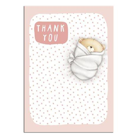 Forever Friends Baby Girl Thank You Cards (Pack of 8)