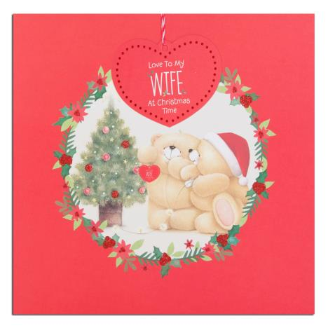 Wife Forever Friends Large Square Christmas Card