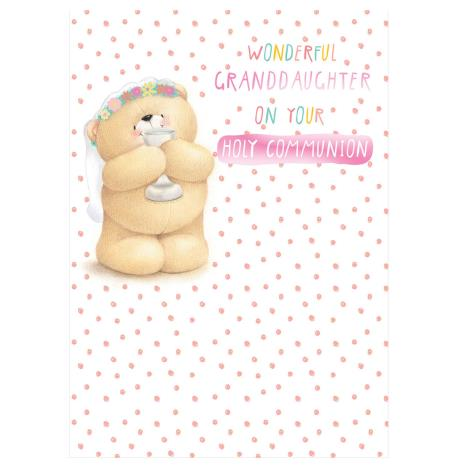 Granddaughter Communion Forever Friends Card