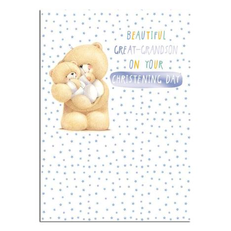 Great Grandson Christening Forever Friends Card