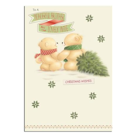 Brother & Wife Forever Friends Christmas Card