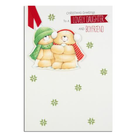 Daughter & Boyfriend Forever Friends Christmas Card